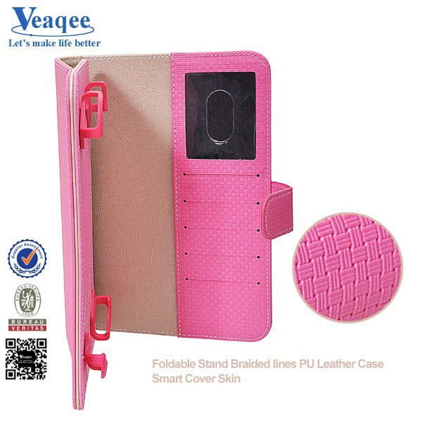 Veaqee 2015 new pattern tri-folding stand case for ipad mini