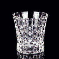 machine made new design whiskey glass with glass stone on body/cockil glass