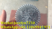 Brighter and shiny galvanized 0.2mm wire 20g mesh scourer steel mesh scrubber for kitchen usage