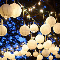 Chinese Round Paper Lanterns Party Stars