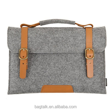 LT0407 Customized 17.5 Leather Felt Laptop Bag for Ladies