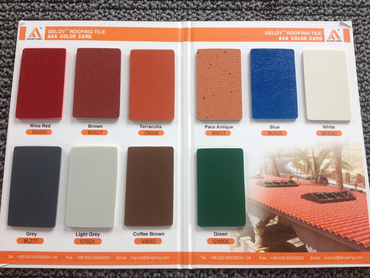 Trustworthy China supplier 2.5mm and 3.0mm upvc material plastic roof tile