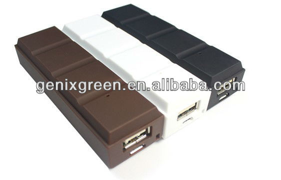 high quality lipstick chocolate powerbank 3000mah for smart phone iphone nokia samsung sony