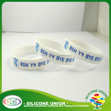 special printed soft bands /silicone ID bracelets/QR silicone bangles silicone wristband