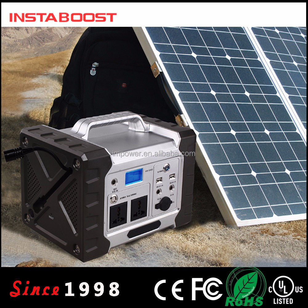 High Quality Charged By Solar Panel System Charging Solar Batteries With Generator With 300W Inverter