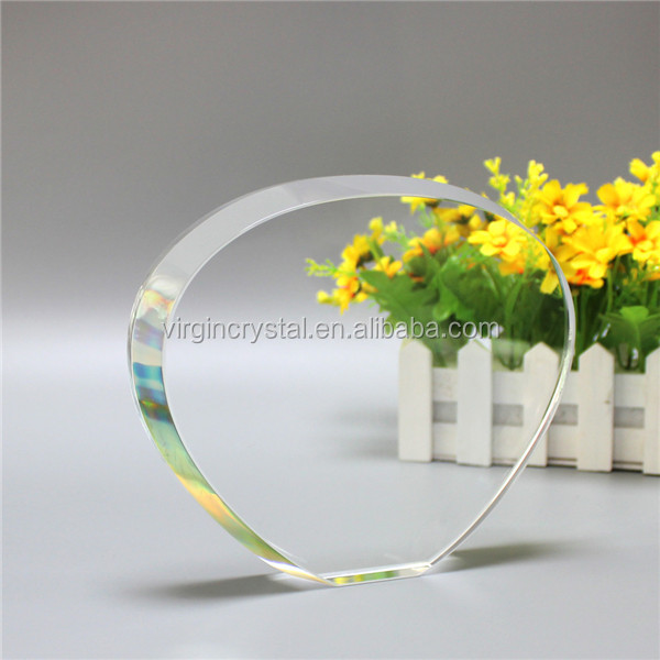 Wholesale clear K9 crystal award plaque with customized logo