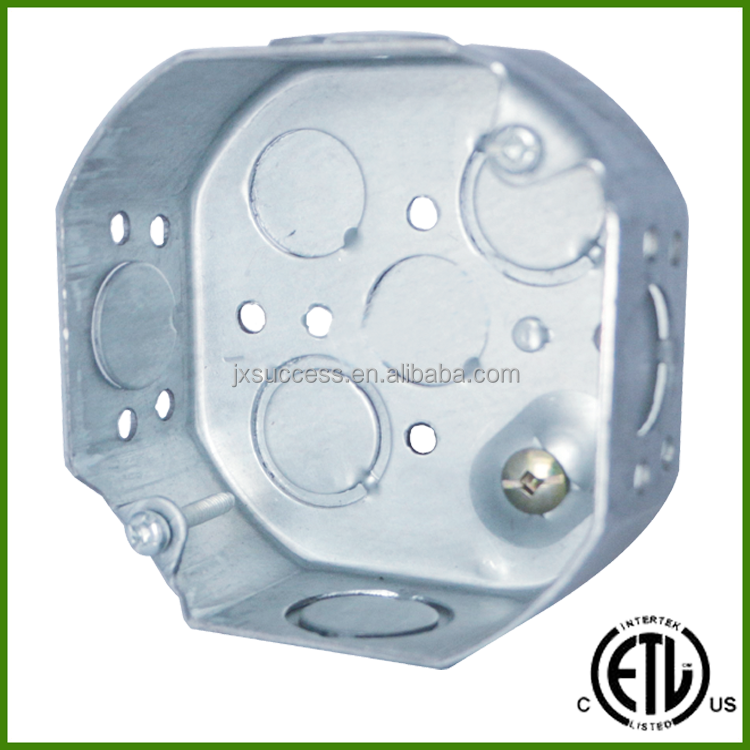 4 Inch Octagonal Electrical Metal Outlet Box Size With Concentric Knockouts