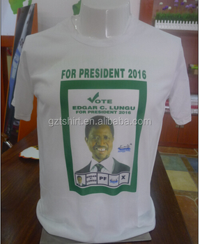 Zambia campaign election T shirt manufactory in China