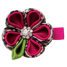 Super quality hot selling ribbon art hair ribbon sculpture clip