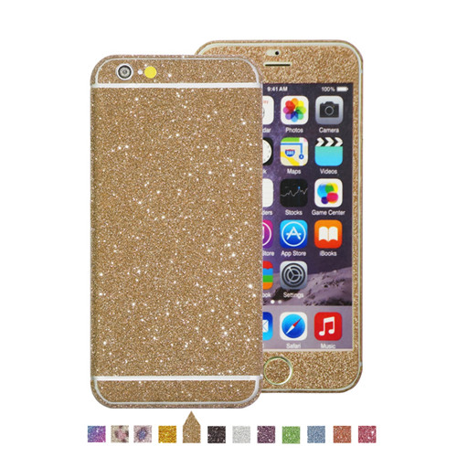 Sparkle Bling Full Body Decal Wrap Glitter Sticker For iphone 6s