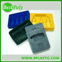 Custom high quality plastic flocking tray ,flocking packaging