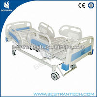 BT-AE101 China manufacturer CE ISO ABS Siderails patient hospital cheap electric bed