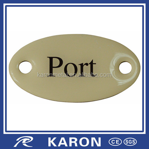 manufacturer supplying logo engraved jewelry tag charm