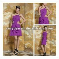 Fashional Sexy One-shoulder Chiffon Short Prom Dresses 2012 Real Party Gown xyy03-053