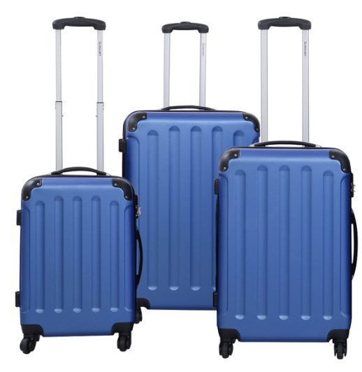 BEIBYE ABS luggage and trolley luggage and 3PCS luggage set