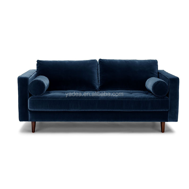 Soft comfortable modern unique living room velvet loveseat sale