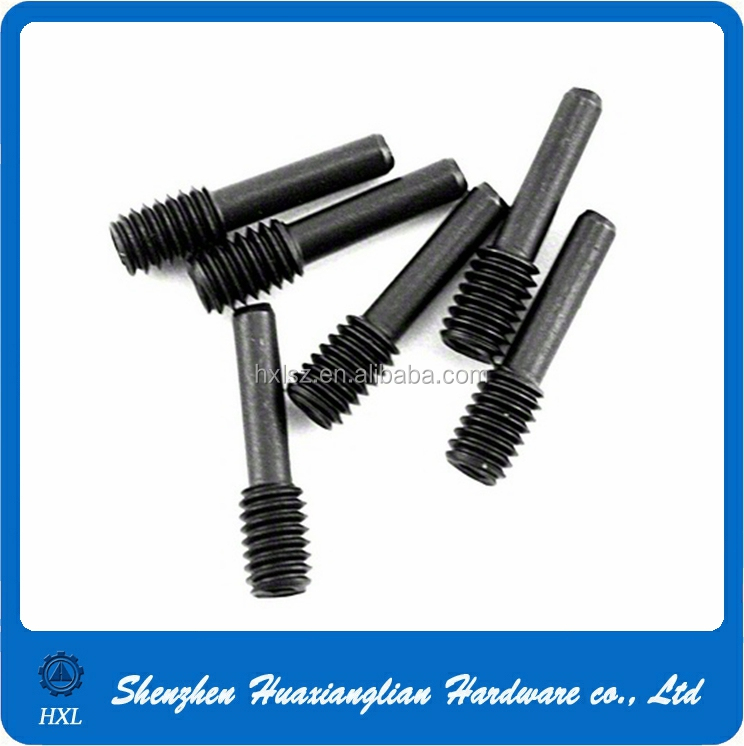 Stainless steel or steel custom made external thread dowel pin