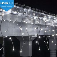 waterproof led white icicle light for wall decoration