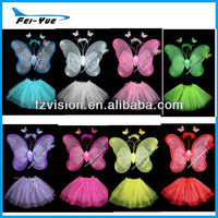 Fancy Girls Party Dress With Butterfly Fairy Wing
