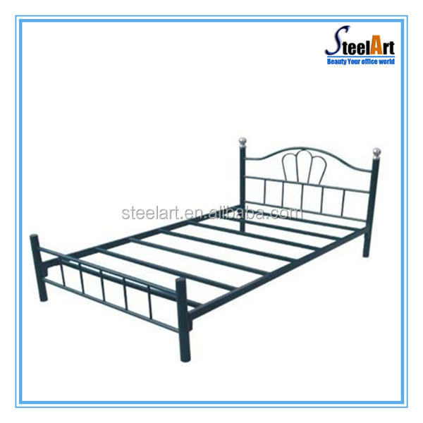 Latest metal bed designs steel hidden wall bed furniture