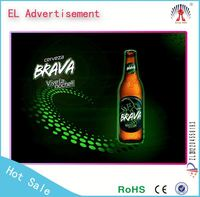 2015 new advertising product flashing el poster, el poster make el technology