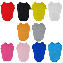 Large Pet Clothes 10 Colors Plain Blank T Shirts for Dog 2XL-6XL