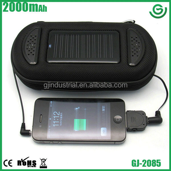 New arrival solar mobile phone charger with music box speaker