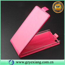 China phone case good quality flip PU leather cover for Gionee E6