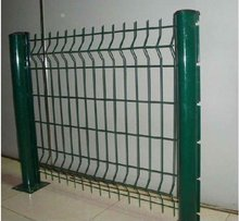 green rubber coated fencing