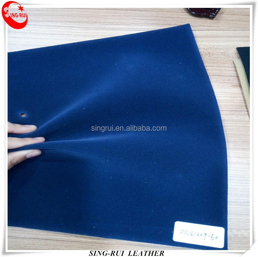 Plane Flocking PU Synthetic Leather for Shoes