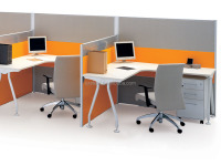 Shenzhen Steel Office 4 seats Workstation Desktop Partition Staff desk with pedestal