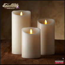 2016 hot seller pillar shape LED moving flame artificial flame candle for sale