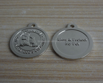 bless products my pet silver dog tag