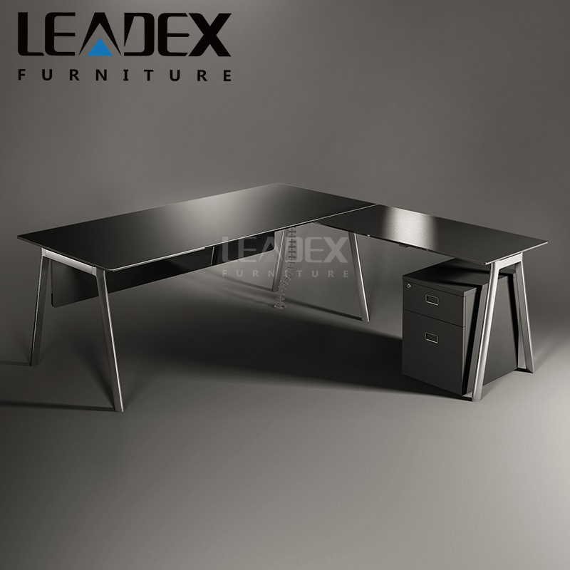 modern appearance glass panle type office table manager desk