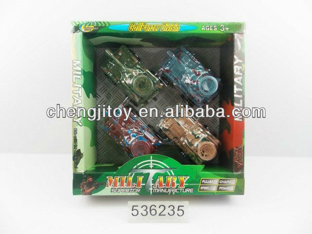 Children promotional gift candy toy candy 4in1 pull line tank