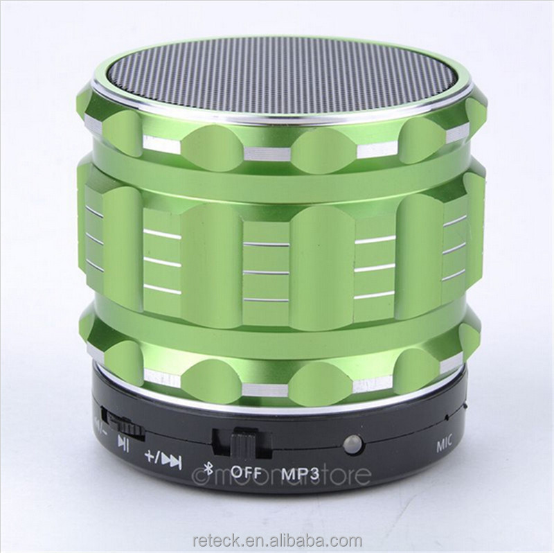 fast shipping mini Metal Bluetooth Wireless Rechargeable Speaker