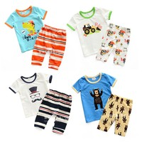 Kids Boys Night Wear Cartoon Pajamas Suit Child Clothes For Children