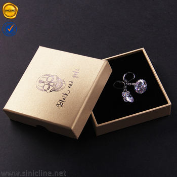 Silver Foiled Custom Logo Black Bracelet Paper Gift Box Wholesale