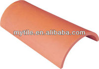Semi-Cylindrical Roof Tiles Red Terracotta Tiles