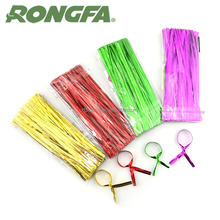Colorful Pre-cut 4 inch rivestito di plastica filo twist ties
