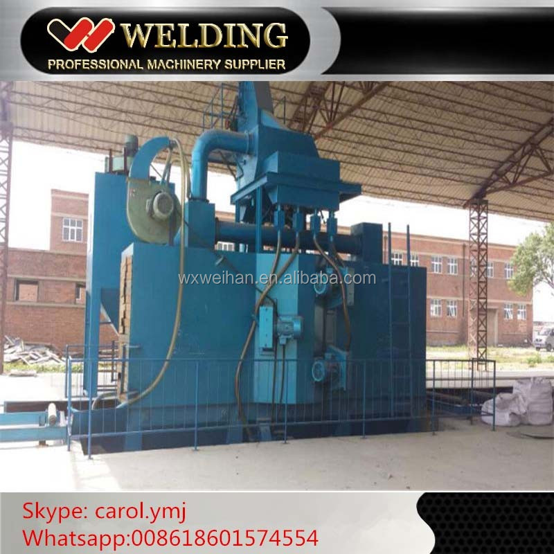 H Beam Roller Conveyor Steel Structure Shot Blasting Machine