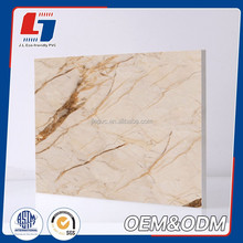 Green wood/ marble grain PVC bathroom decorative board for decoration