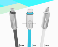 Type C 2 in 1 LED light Flashing USB Data Cable for Mobile Phone