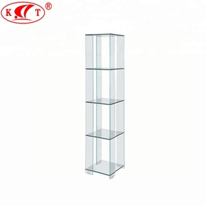 10mm Corner Glass Curio Display Cabinet