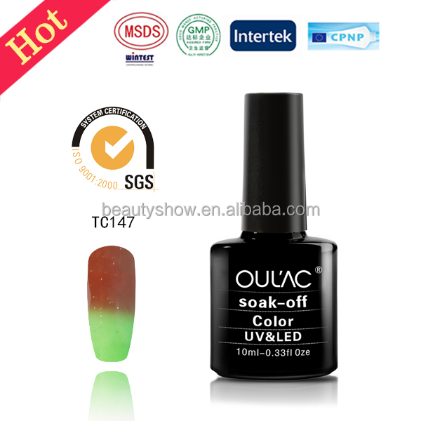 Beautyshow latest 48 colors OEM and ODM welcome color changing gel polish ,nail polish ,easy soak off uv gel