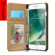 china phone case manufacturer Wholesale Factory Genuine Leather, For iPhone 7 plus Mobile Flip Wallet