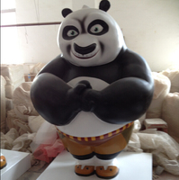 Fiberglass Cartoon Sculpture Panda Fiberglass Movie Star for Pomotion
