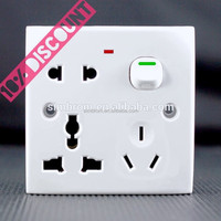 10 DISCOUNT!!! Smart Muti functional Electric push power socket modern wall lighting switches