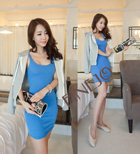 2014 hot selling lady dress cotton design 16299