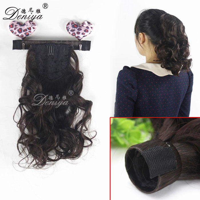 Long Clip in Synthetic Hair Extension Fake Hair Ponytails Curl Claw Ponytails Hairpiece Little Pony Hair Tail